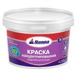 КРАСКА В/ЭМУЛ.КОНЦЕНТР.Диола-78(208) 8 кг супербел