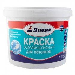 КРАСКА В/ЭМУЛЬС.Диола-212 белая д\потолк.4,5кг матовая