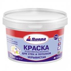КРАСКА В/ЭМУЛЬС.Диола-213 белая матовая 7,5 кг