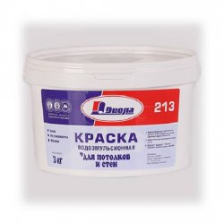 КРАСКА В/ЭМУЛЬС.Диола-213 белая матовая 3 кг
