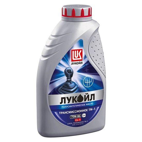 Трансмиссионное масло ЛУКОЙЛ ТМ-5 SAE 75W90 GL-5 полусинт 1л