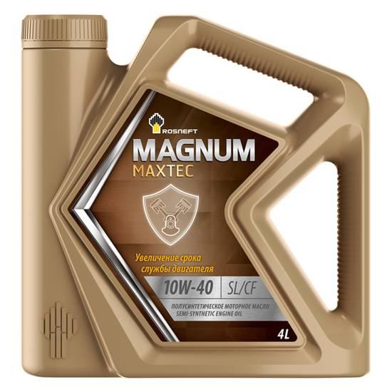 Моторное масло Rosneft Magnum Maxtec 10w40 SL/CF 4л