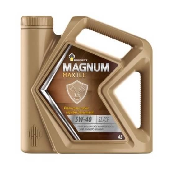 Моторное масло Rosneft Magnum Maxtec 5w40 SL/CF 4л