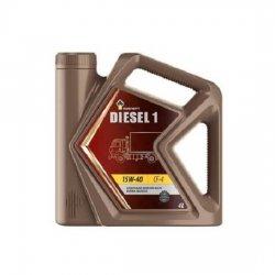 Моторное масло Rosneft Diesel 1 15W-40 CF-4 минеральное 4 л