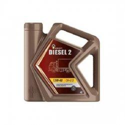 Моторное масло Rosneft Diesel 2 15W-40 CH-4/SJ минеральное 4 л