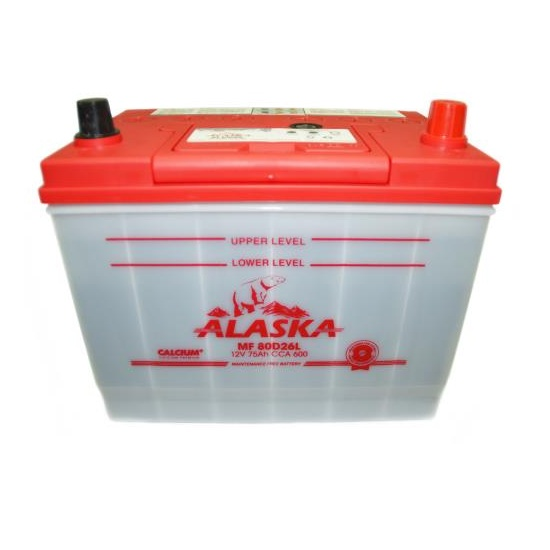 АКБ ALASKA MF 80D26L 75 АЧ ОБРАТНЫЙ