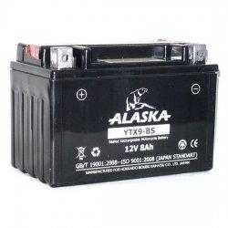 АКБ ALASKA МОТО YTX9-BS 12 V 8 АЧ
