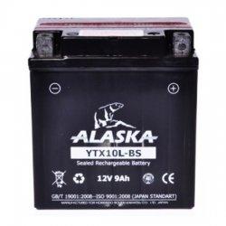 АКБ ALASKA МОТО YTX10L-BS 12 V 9 АЧ