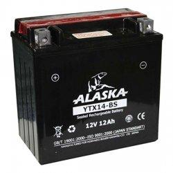 АКБ ALASKA МОТО YTX12-BS 12 V 10 АЧ