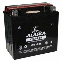АКБ ALASKA МОТО YTX14-BS 12 V 12 АЧ