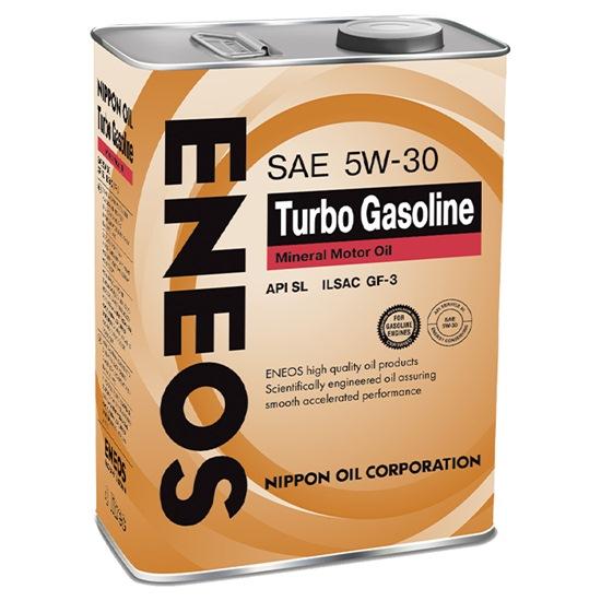 Моторное масло ENEOS SL TURBO GASOLINE 5W30  минеральное 4 Л