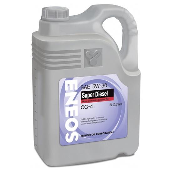 Моторное масло ENEOS CG-4 5W30 Diesel Super полусинт 6Л