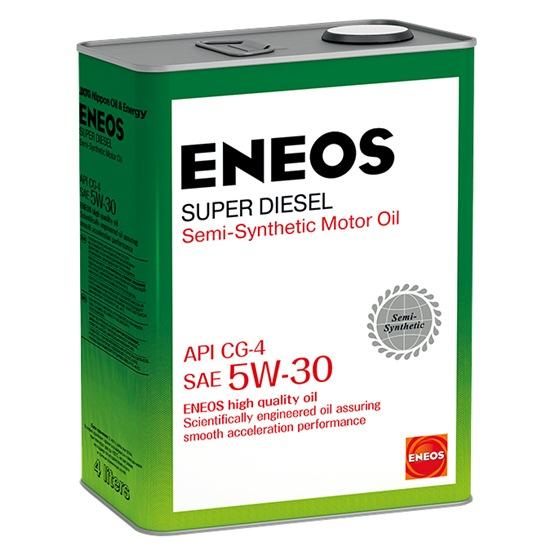 Моторное масло ENEOS CG-4 5W30 Diesel Super полусинт 4Л