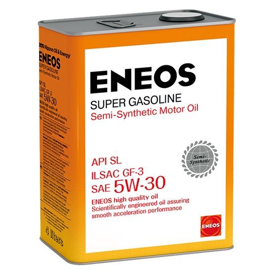 Моторное масло ENEOS SL 5W30 ПОЛУСИНТ SUPER GASOLINE 4Л