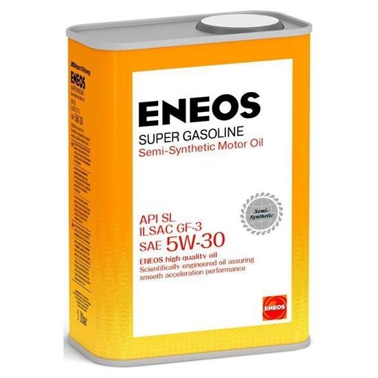 Моторное масло ENEOS SL 5W30 ПОЛУСИНТ SUPER GASOLINE 1Л