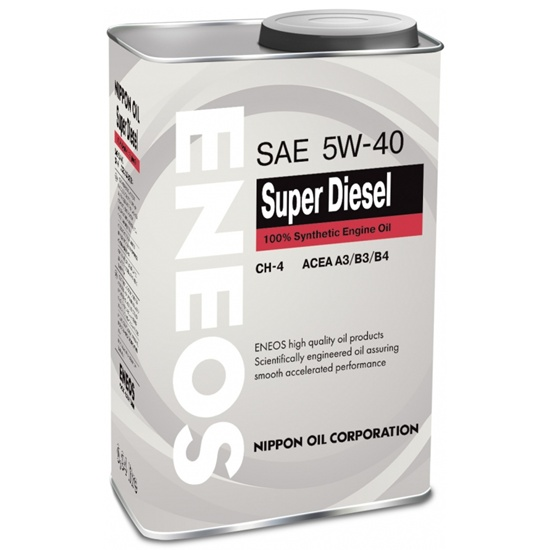 Моторное масло ENEOS Super Diesel CH-4 5W-40 синтетика 1 л