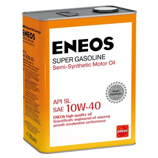 Моторное масло ENEOS SL 10W40 ПОЛУСИНТ SUPER GASOLINE 4Л