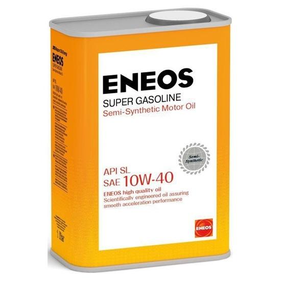 Моторное масло ENEOS SL 10W40 ПОЛУСИНТ SUPER GASOLINE 1Л