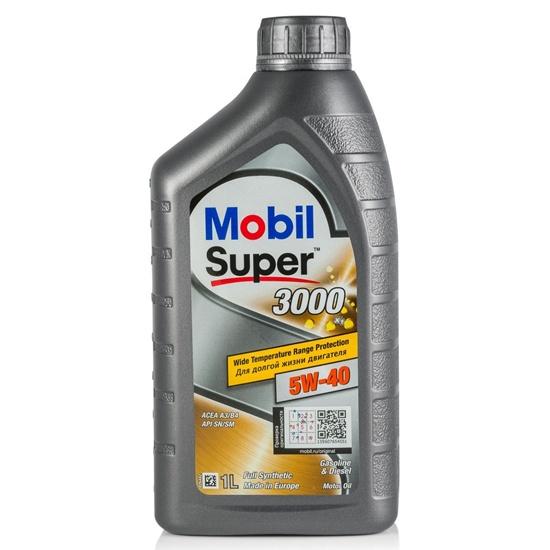 Моторное масло MOBIL СУПЕР 3000Х1 5W40 SN SM синтетическое 1Л