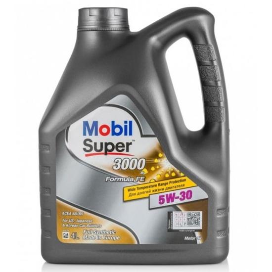 Моторное масло MOBIL СУПЕР 3000Х1F-FE 5W30 синтетическое 4Л