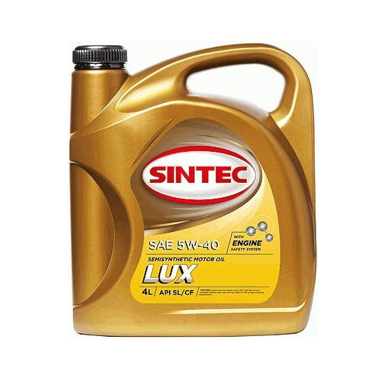 Моторное масло SINTEC ЛЮКС 5W40 полусинтетическое 4Л