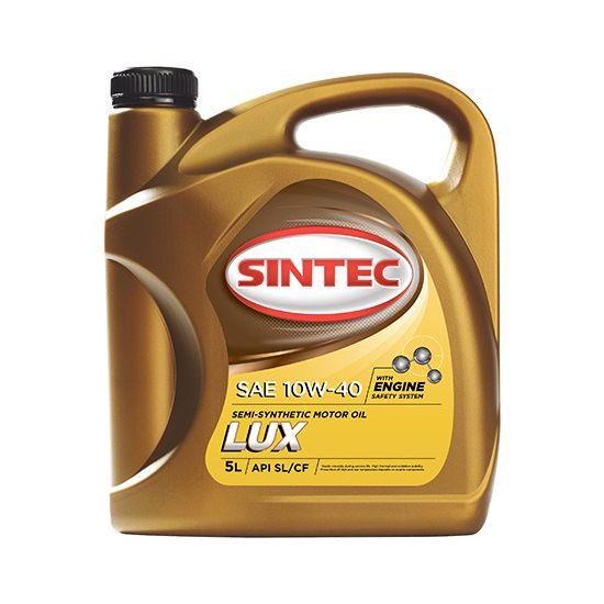 Моторное масло SINTEC ЛЮКС 10W40 полусинтетическое 5Л