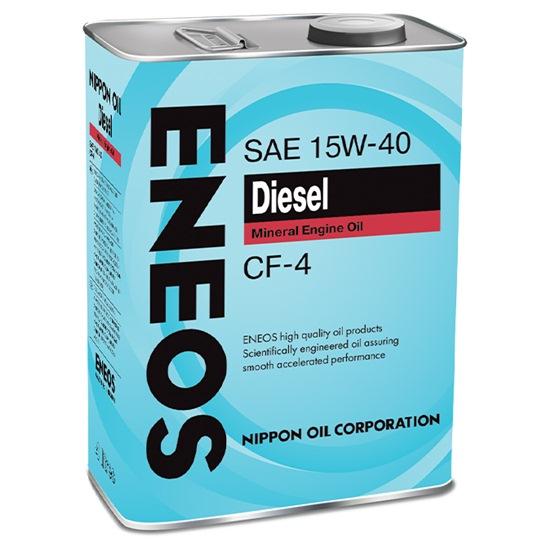 Моторное масло ENEOS CF-4 15W40 МИНЕРАЛЬНОЕ ДИЗЕЛЬ 4 Л