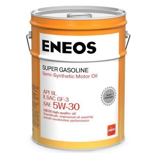 Моторное масло ENEOS SL 5W30 ПОЛУСИНТ SUPER GASOLINE 20Л