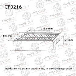 ФИЛЬТР САЛОННЫЙ AVANTECH 105537 (CF0216)