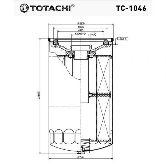 ФИЛЬТР МАСЛЯНЫЙ TOTACHI TC-1046 С-223 15201-Z9009
