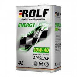 Моторное масло ROLF ENERGY 10W-40 SL/CF полусинт 4 л