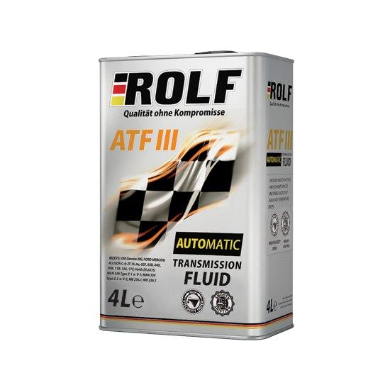 Трансмиссионная жидкость ROLF ATF-III 4Л