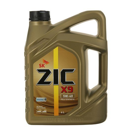 Моторное масло ZIC X9 5W40  синтетическое 4л
