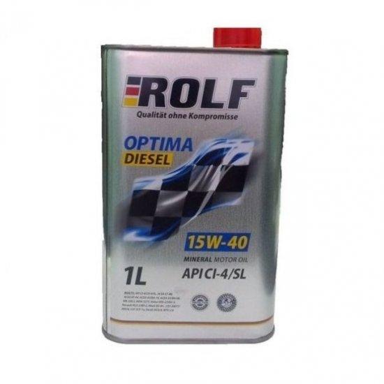 Моторное масло ROLF OPTIMA ДИЗЕЛЬ 15W40 CI-4/SL МИН.1Л