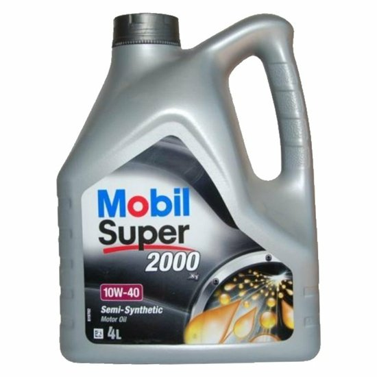 Моторное масло MOBIL СУПЕР 2000Х1 полусинтетическое 10W40 4л