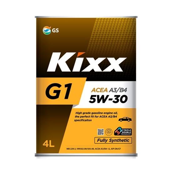 Моторное масло KIXX G1 5W30 А3/В4  СИНТ 4Л