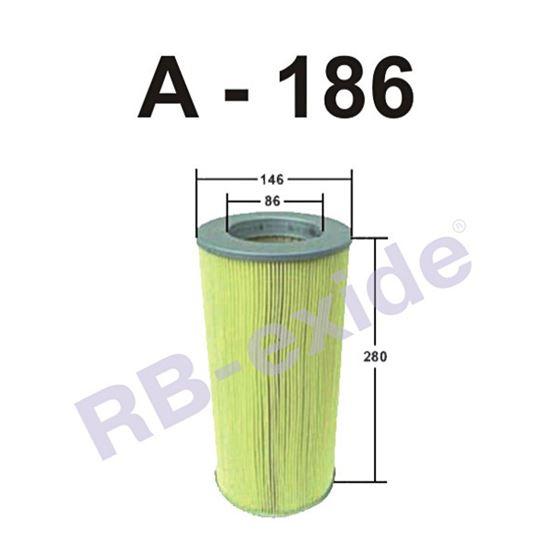 ФИЛЬТР ВОЗДУШНЫЙ А-186 RB-EXIDE