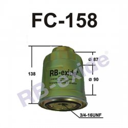 ФИЛЬТР ТОПЛИВНЫЙ FC-158  RB-EXIDE
