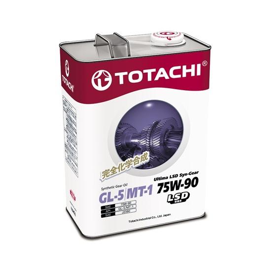 Трансмиссионное масло TOTACHI ULTIMA LSD SYN-GEAR GL-5 75W90 4Л