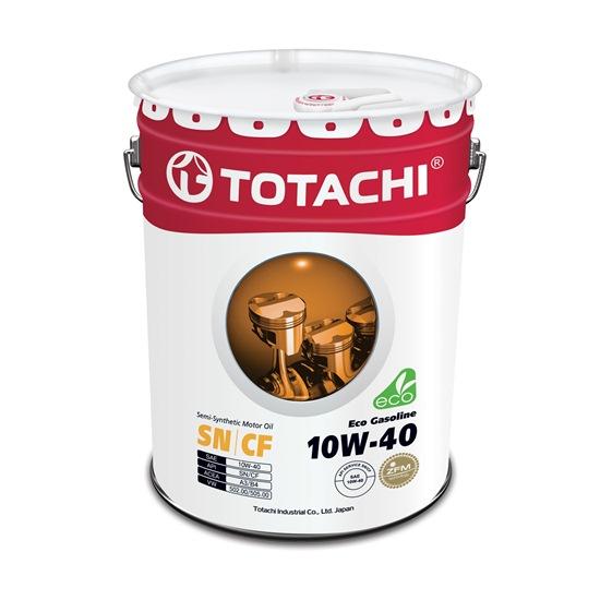 Моторное масло TOTACHI ECO GASOLINE 10W40 SN/CF   20л