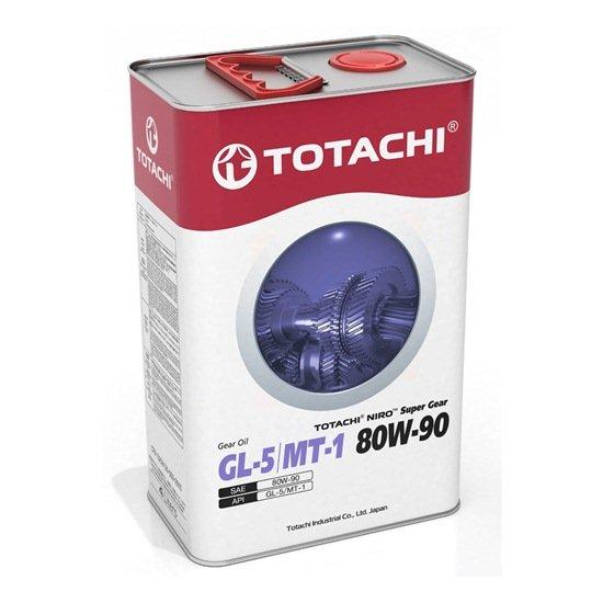 Трансмиссионное масло TOTACHI NIRO SUPER GEAR GL-5/МТ-1 80W90 4Л