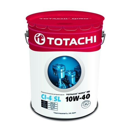 Моторное масло TOTACHI NIRO HD SEMI-SYNTHETIC 10W40 CI-4/SL 19л