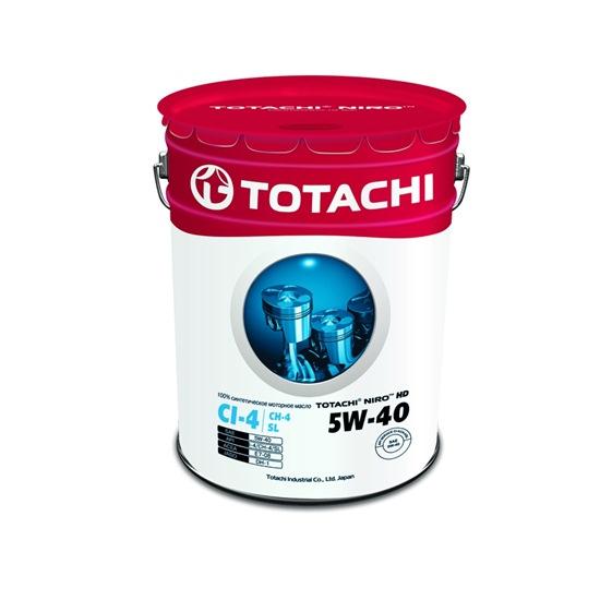 Моторное масло TOTACHI NIRO HD SYNTHETIC 5W40 CI-4/SL 19л