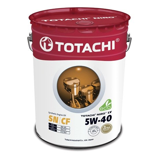Моторное масло TOTACHI NIRO LV SYNTHETIC 5W40 SN/CF 19л