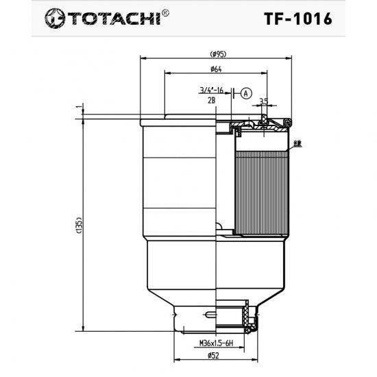 ФИЛЬТР ТОПЛИВНЫЙ FC- TOTACHI TF-1016 FC-158