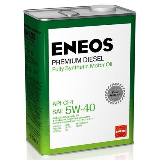 Моторное масло ENEOS CI-4 5W40  PREMIUM DIESEL синтетич 4 Л