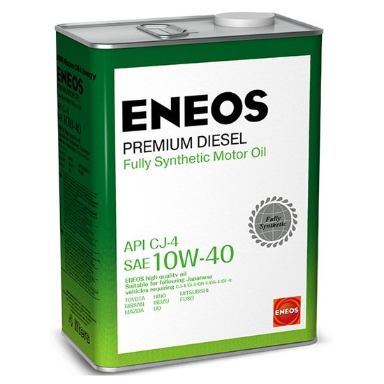 Моторное масло ENEOS CJ-4 10W40 PREMIUM DIESEL синтетич 4 Л