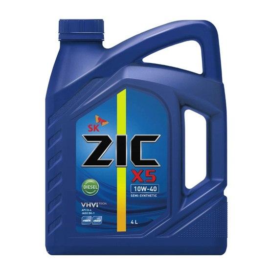 Моторное масло ZIC X5 10W40 DIESEL 4Л