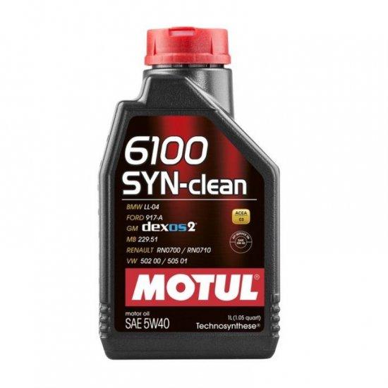 Моторное масло MOTUL  6100 SYN-CLEAN 5W40 1л