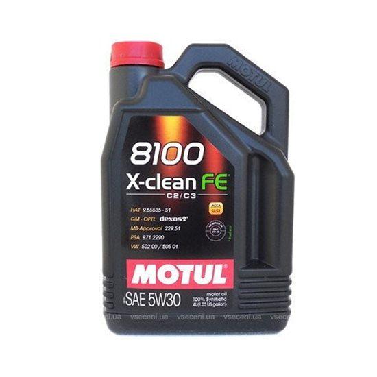 Моторное масло MOTUL  8100 X-CLEAN FE 5W30 4л